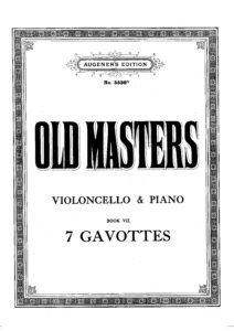 a - 7 Gavottes by Old Masters (Schroder)