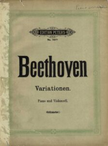 a - Beethoven L. - Variations for Cello and Piano (Grutzmacher)