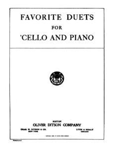a - Favorite Duets for Cello and Piano (Boston)