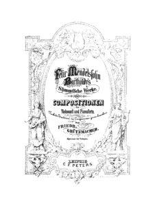 a - Mendelssohn F. - Works for Cello and Piano (Grutzmacher)