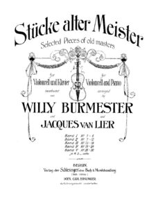 a - Pieces of Old Masters vol.4 (Burmester)