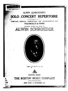 a - Solo Concert Repertoire v.1 (Schroeder)