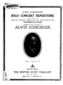 a - Solo Concert Repertoire v.3 (Schroeder)