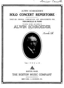 a - Solo Concert Repertoire v.4 (Schroeder)