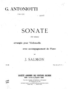 cp - Antoniotti G. - Sonata in G minor (Salmon)