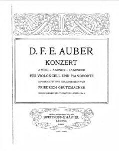 cp - Auber D.F.E. - Cello Concerto in A minor (B&H)