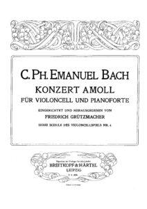 cp - Bach C.P.E. - Cello Concerto in A minor (Grutzmacher)