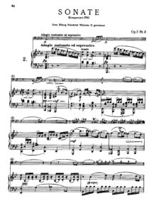 cp - Beethoven L. - Cello Sonata No.2 [Op.5 No.2] (Peters)