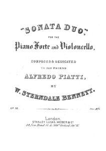 cp - Bennett W.S. - Sonata Duo Op.32