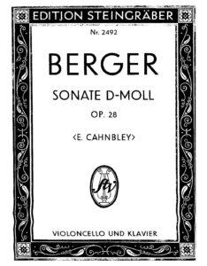 cp - Berger W. - Cello Sonata in D minor Op.28
