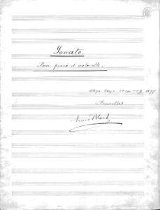 cp - Bloch E. - Cello Sonata (Manuscript)