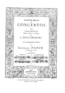 cp - Boccherini L. - Cello Concerto No.8 G.481 in C (Papin)