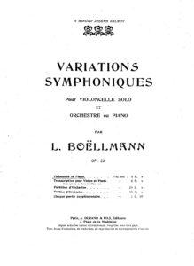 cp - Boellmann L. - Variations Symphoniques