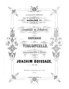 cp - Boissaux J. - Souvenir de Schubert