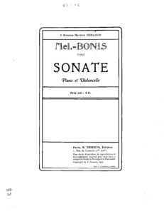 cp - Bonis M. - Cello Sonata Op.67
