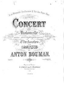 cp - Bouman A. - Cello Concerto No.1 Op.3