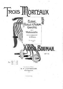 cp - Bouman - Elegie Op.10 No.1