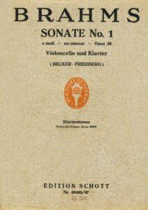 cp - Brahms J. - Cello Sonata No.1 in E minor Op.38 (Becker)