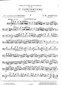 cp - Breval J.B. - Concertino No.1 in F (Feuillard)