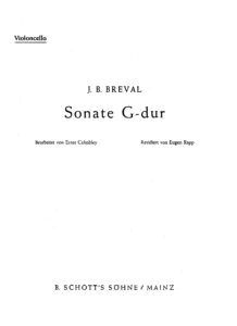 cp - Breval J.B. - Sonata in G (Cahnbley)