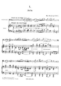 cp - Bruch M. - Four Pieces Op.70
