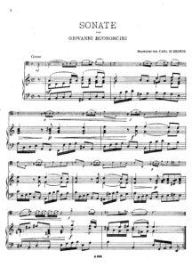 cp - Buononcini G. - Sonata in A minor (Schroder)