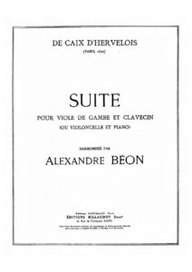 cp - Caix d'Hervelois L. - Gamba Suite in A minor (Beon)
