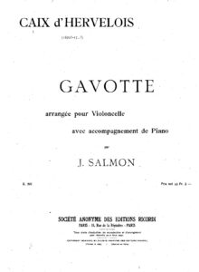 cp - Caix d'Hervelois L. - Gavotte in A minor (Salmon)