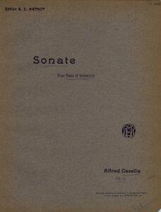 cp - Casella A. - Cello Sonata Op.6