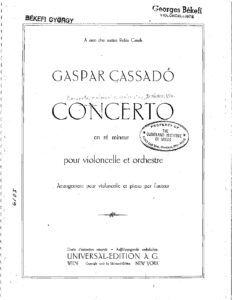 cp - Cassado G. - Cello Concerto in D minor