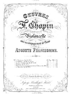 cp - Chopin F. - Etude Op.25 No7 for Cello and Piano (Franchomme)