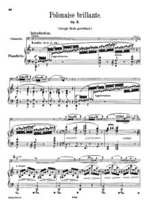 cp - Chopin F. - Polonaise Brillante Op.3 (Peters)