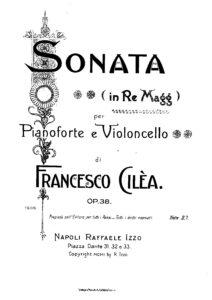 cp - Cilea F. - Cello Sonate Op.38