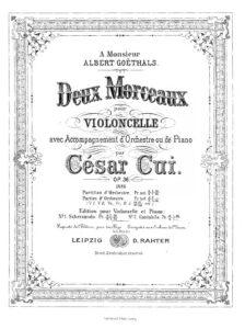 cp - Cui C. - 2 Pieces Op.36 (No.1 - Scherzando, No.2 - Cantabile)