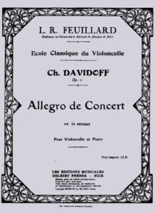 cp - Davidoff C. - Concert Allegro Op.11 (Feuillard)