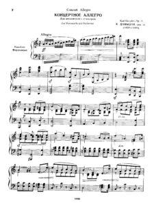 cp - Davidoff C. - Concert Allegro Op.11 (Schirinsky)