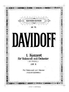 cp - Davidoff C. - Concerto No.1 Op.5 (Kistner)