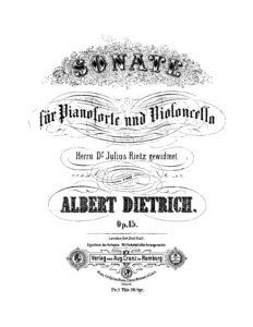 cp - Dietrich A. - Cello Sonata Op.15