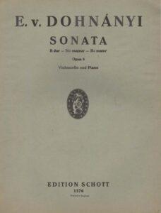 cp - Dohnanyi E. - Sonata in B Op.8