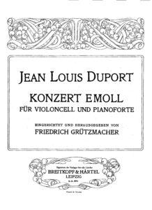 cp - Duport J.L. - Concerto No.4 in E minor (Grutzmacher)