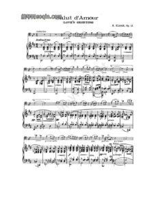 cp - Elgar E. - Salut d'Amour