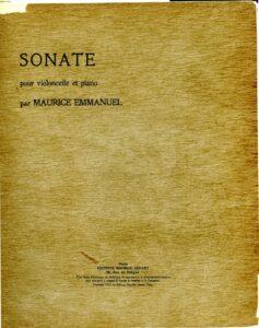 cp - Emmanuel M. - Cello Sonata