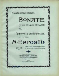 cp - Esposito M. - Cello Sonata in D Op.43
