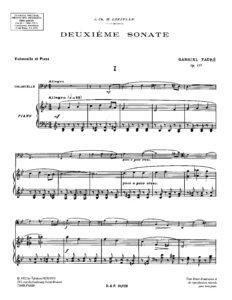 cp - Faure G. - Cello Sonata Op.117