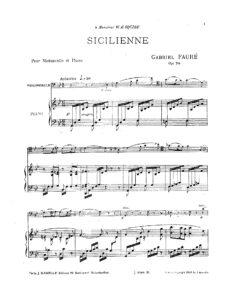 cp - Faure G. - Sicilienne Op.78