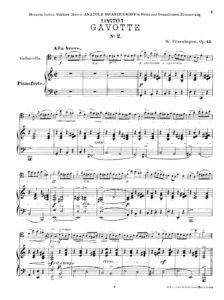 cp - Fitzenhagen W. - Gavotte No2 Op.42