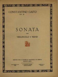 cp - Gaito C. - Cello Sonata Op.26