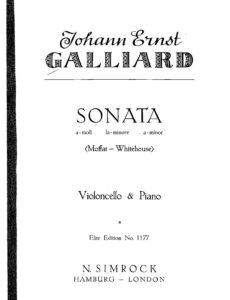 cp - Galliard J.E. - Sonata in A-minor (Moffat)