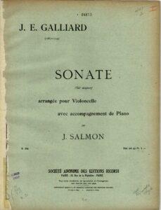 cp - Galliard J.E. - Sonata in G (Salmon)