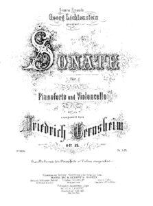 cp - Gernsheim F. - Cello Sonata Op.12